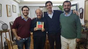 Desde la izquierada: Guillermo Barber Soler, Julio Bárbaro, Javier García Moritán y Francisco del Campo