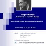 I Jornada Argentina sobre el Pensamiento Maritainiano